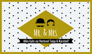Hochzeit Etikett MR & MRS mit Text PK_2016_05_10